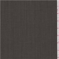 *1 1/8 YD PC--Brown Glenplaid Wool Suiting