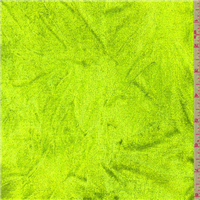 *3 5/8 YD PC--Lime Green Panne Velour