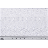 *5 YD PC--White Scalloped Eyelet