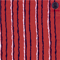 *1 3/4 YD PC--Red Stripe Sateen